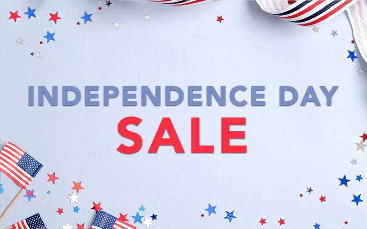 Get 20% OFF Select Items for Independence Day!