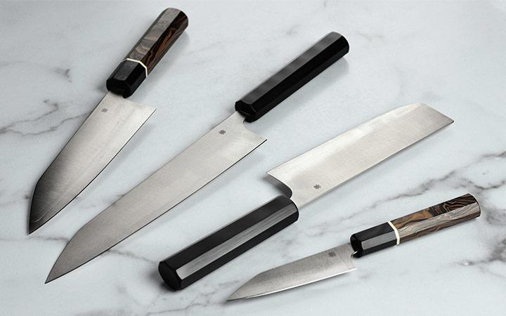 Murray Carter Itamae Series Bunka Knife, Murray Carter Wakiita Series Gyuto Knife, Murray Carter Wakiita Series Nakiri Knife and Murray Carter Itamae Series Petty Knife
