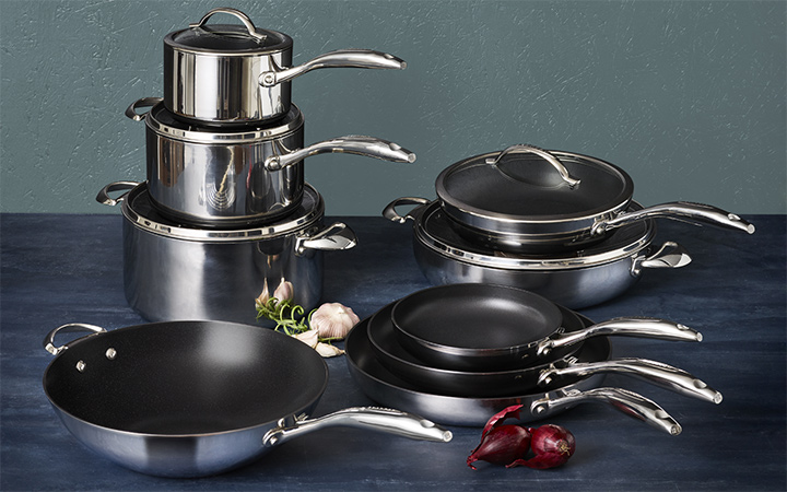 Scanpan HaptIQ Stainless Steel Nonstick Cookware Set