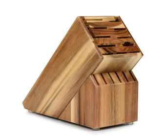 Cutlery and More 7-slot Slim Knife Block in Acacia Finish