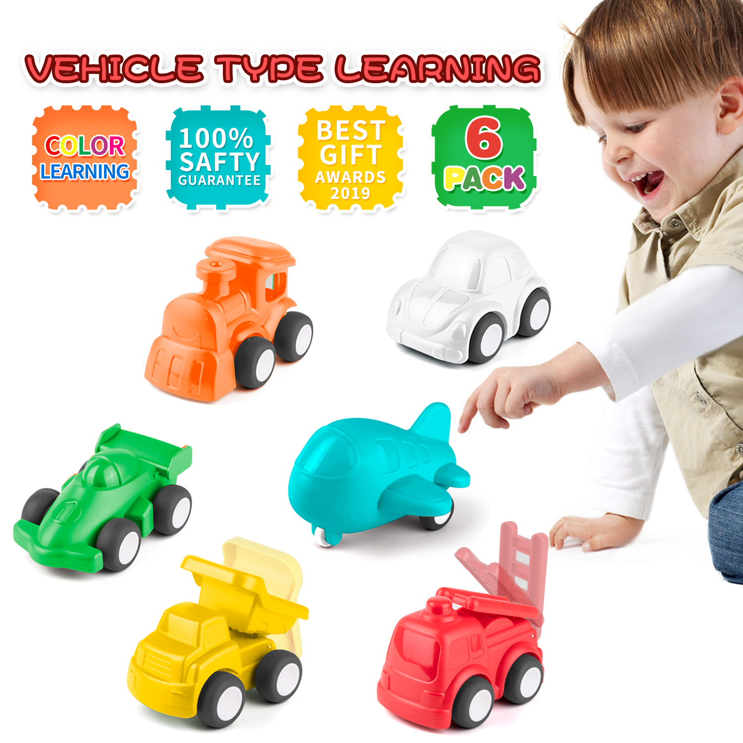 KidPal Baby Car Toys for Toddllers, Set of 6 Toys for 1 2 ...