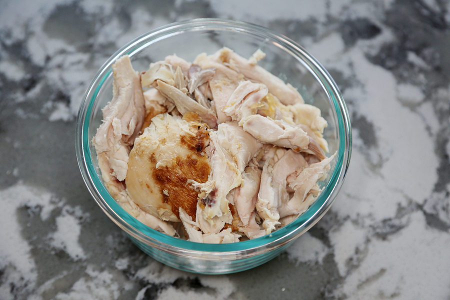 Shredded roast white chicken-easy meals busy travel nurses