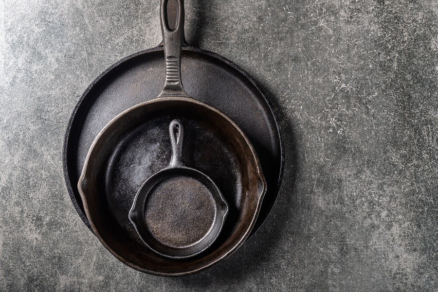 cast iron skillet-travel nursing kitchen