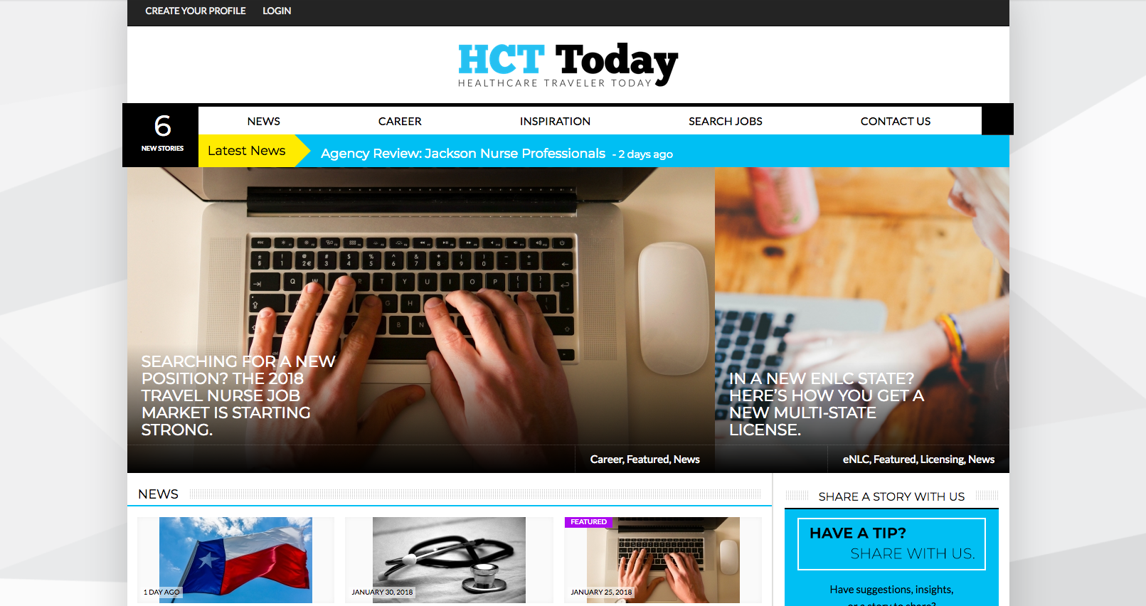 hct today home page-archive-healthcare traveler today
