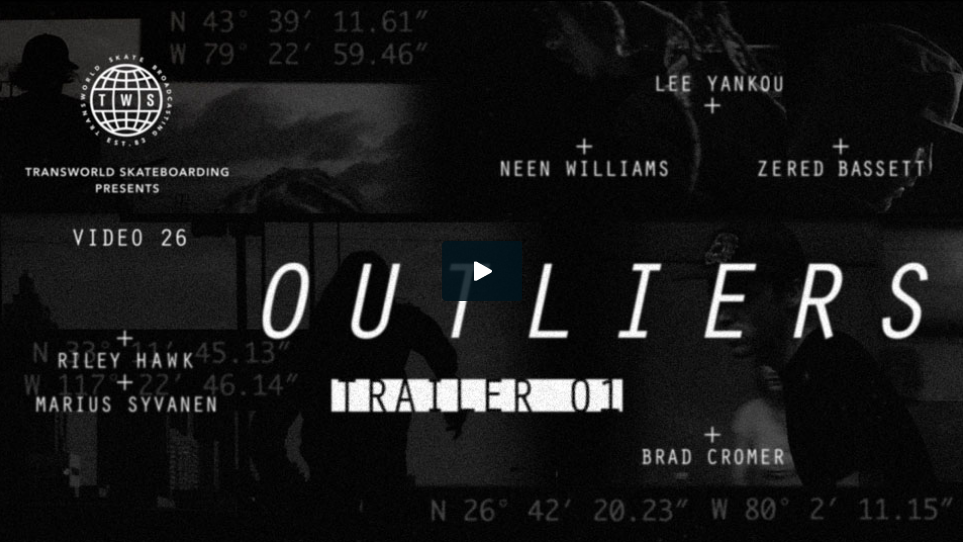 TransWorld SKATEboarding Presents our 26th video  Outliers