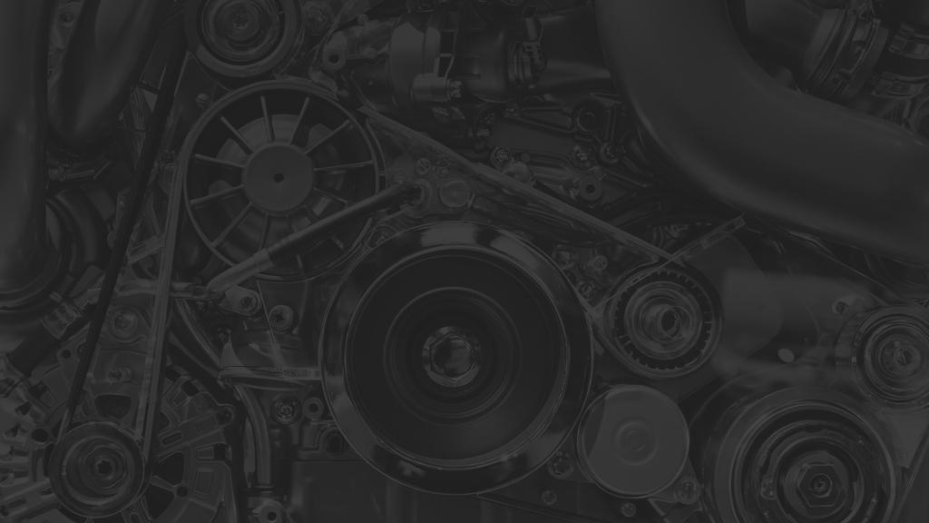 Car engine in monochrome