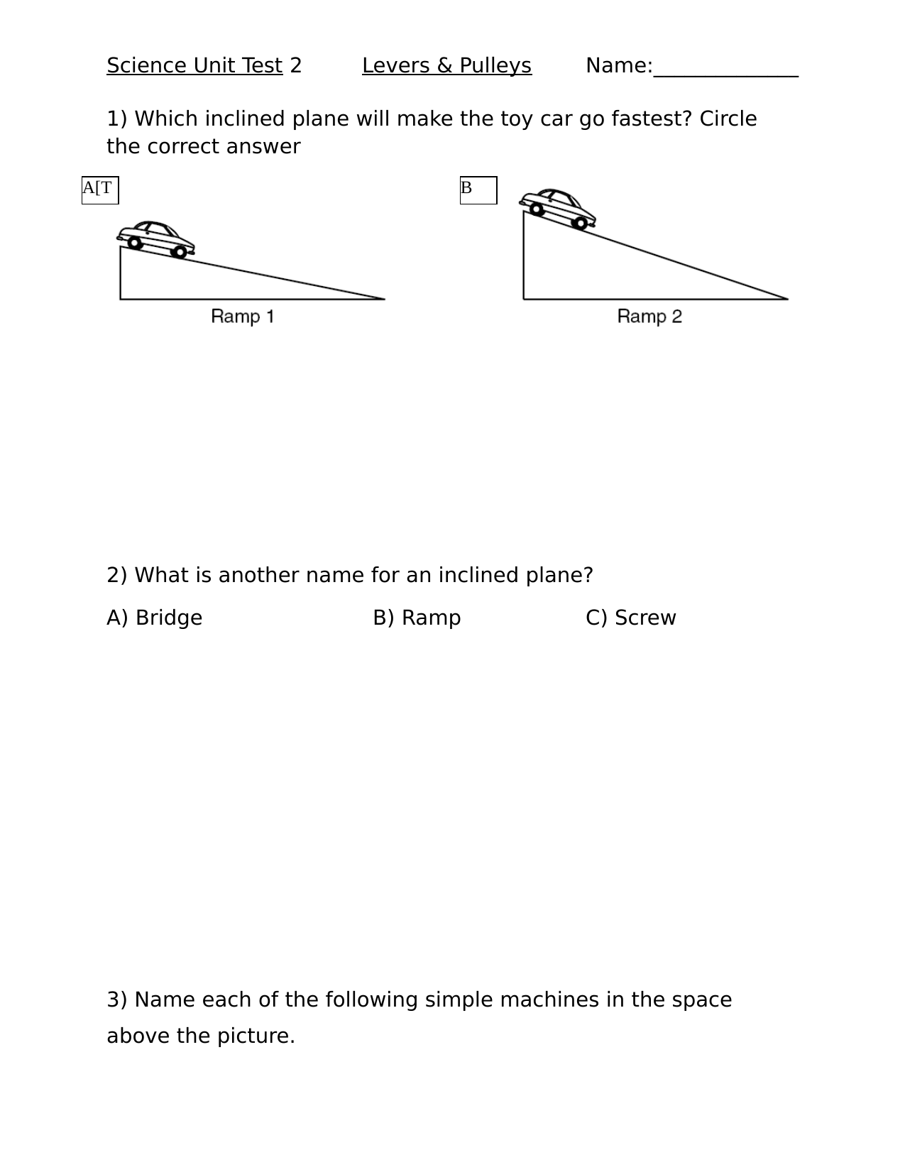 Simple Machines Unit Test 2 Resource Preview