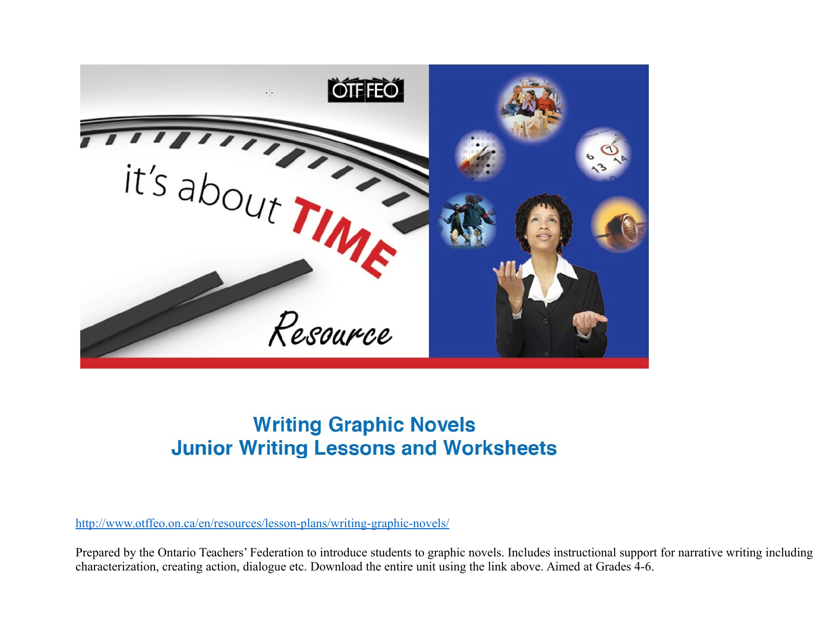 Reading and Writing Graphic Novels Resource Preview