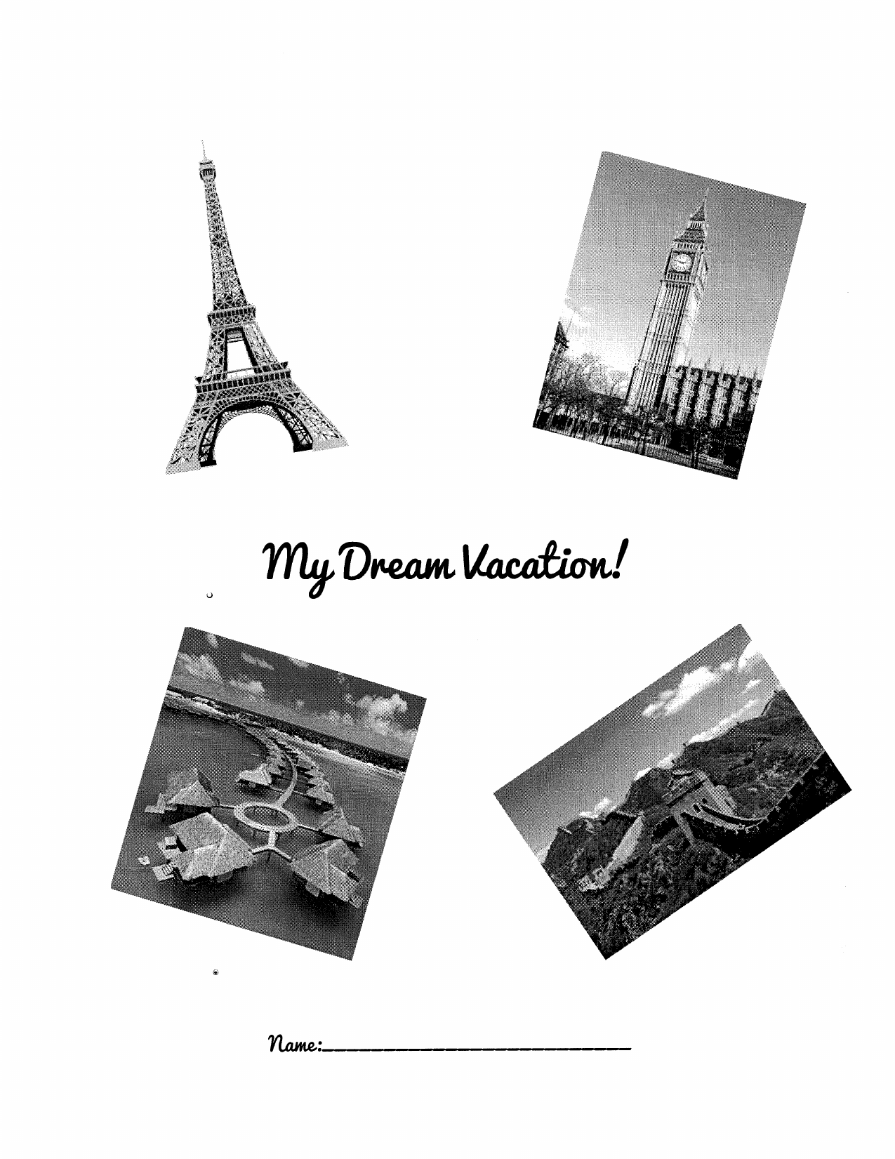 Dream Vacation Cross Curricular Resource Preview