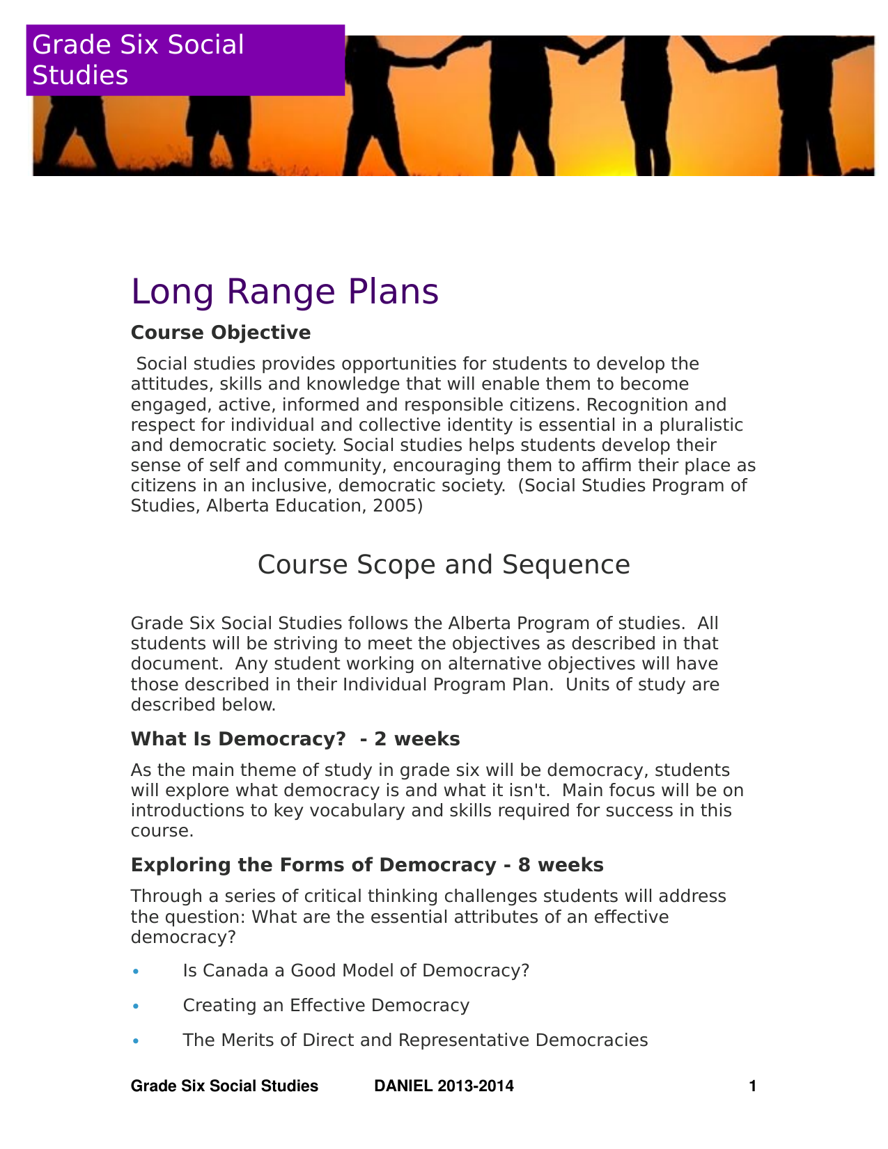 Grade 6 Social Studies Long Range Plans Resource Preview