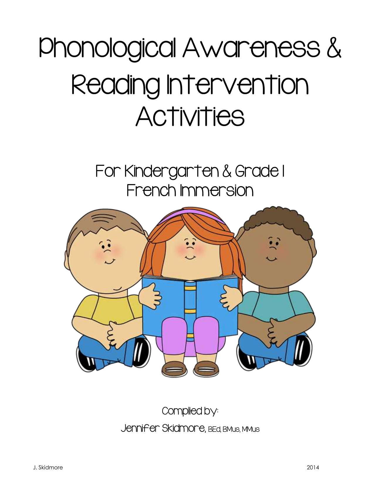 Phonological Awareness Skills Activity List for Grade 1 French Immersion Resource Preview