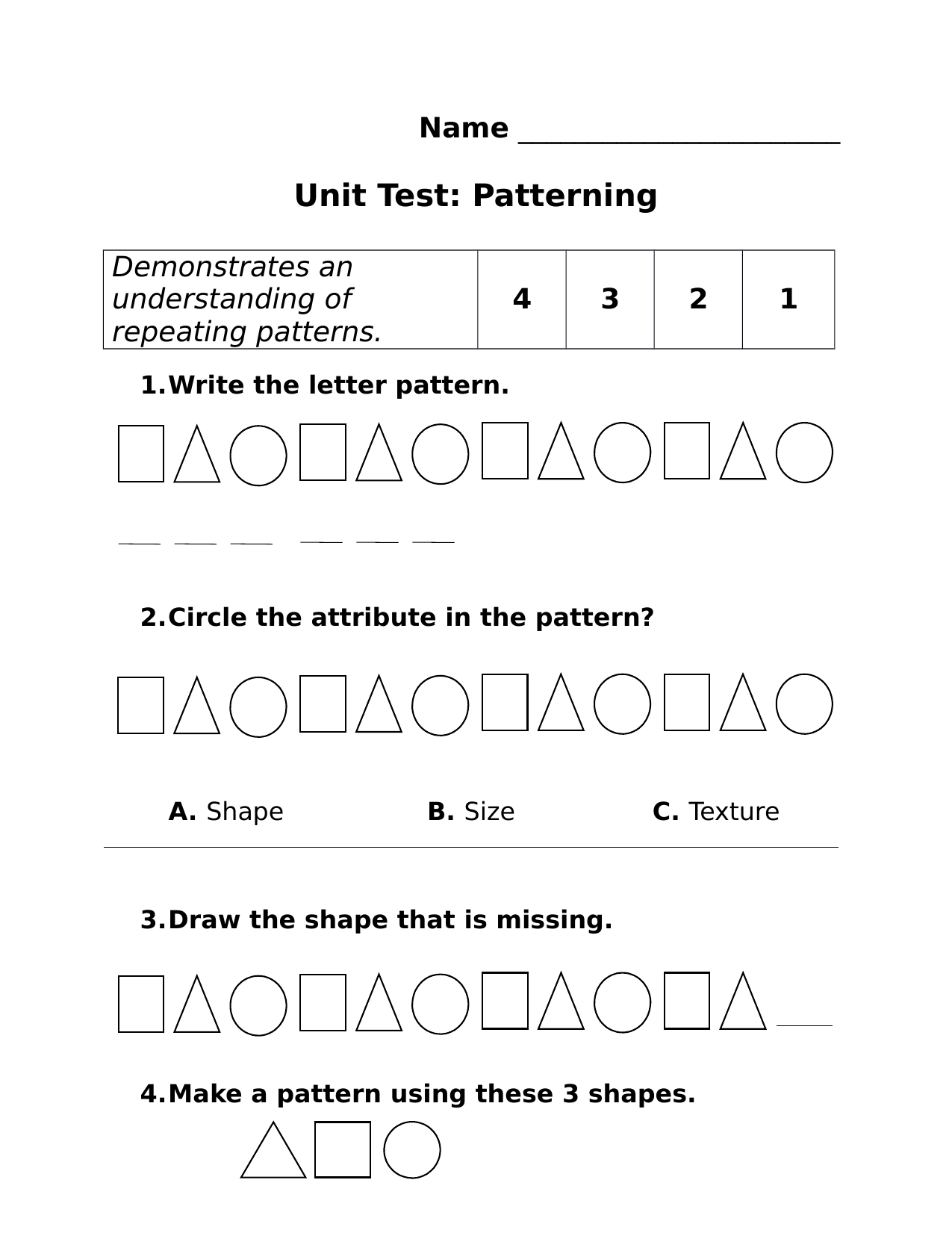 Patterns Unit Test Resource Preview