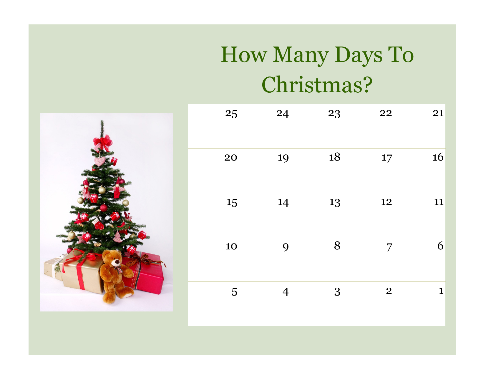 Countdown to Christmas  Resource Preview