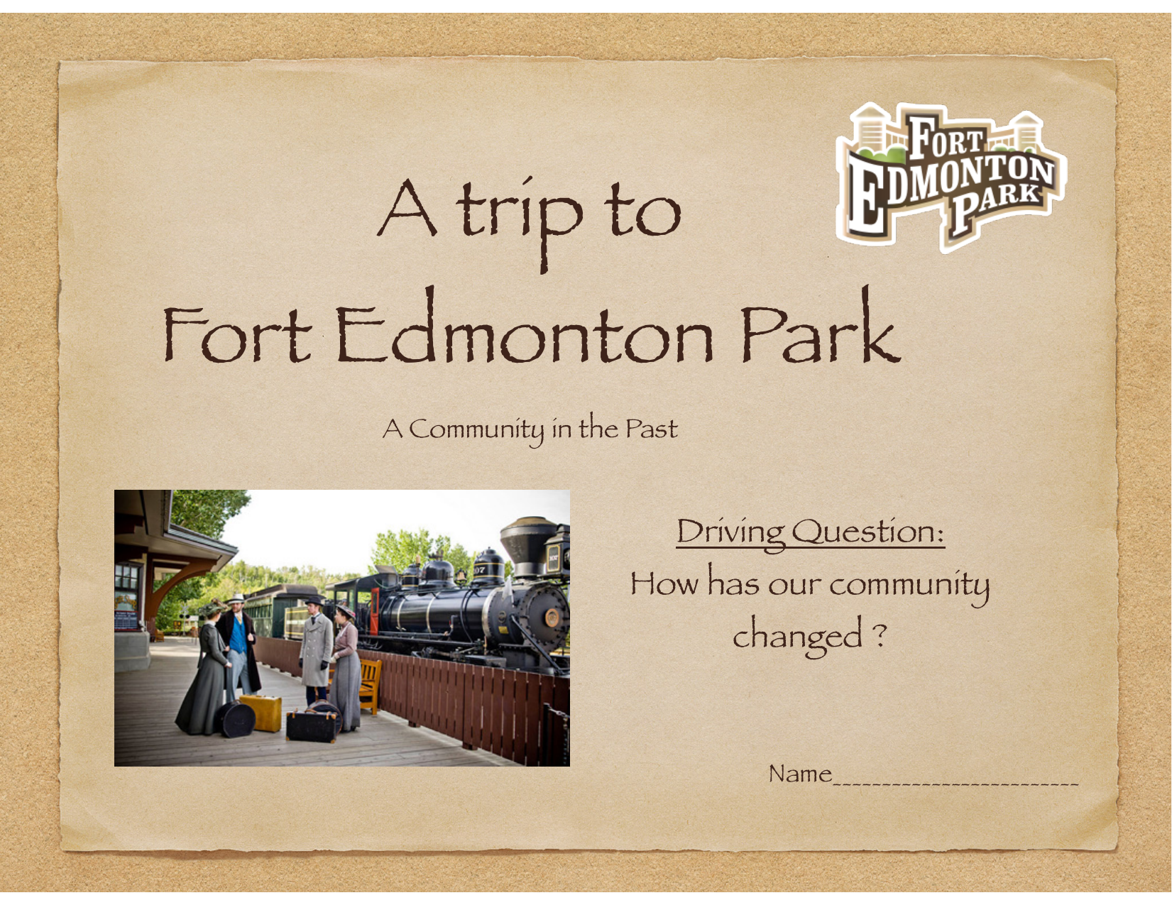 Fort Edmonton Booklet Resource Preview