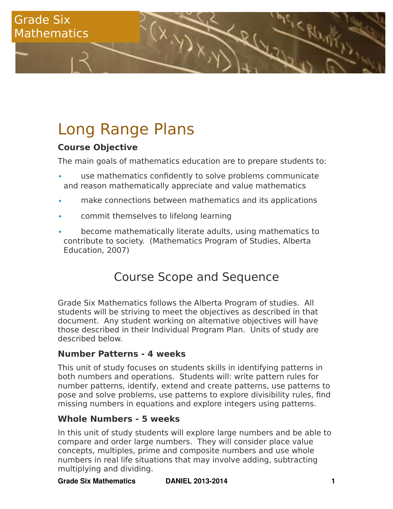 Grade 6 Math Long Range Plans Resource Preview