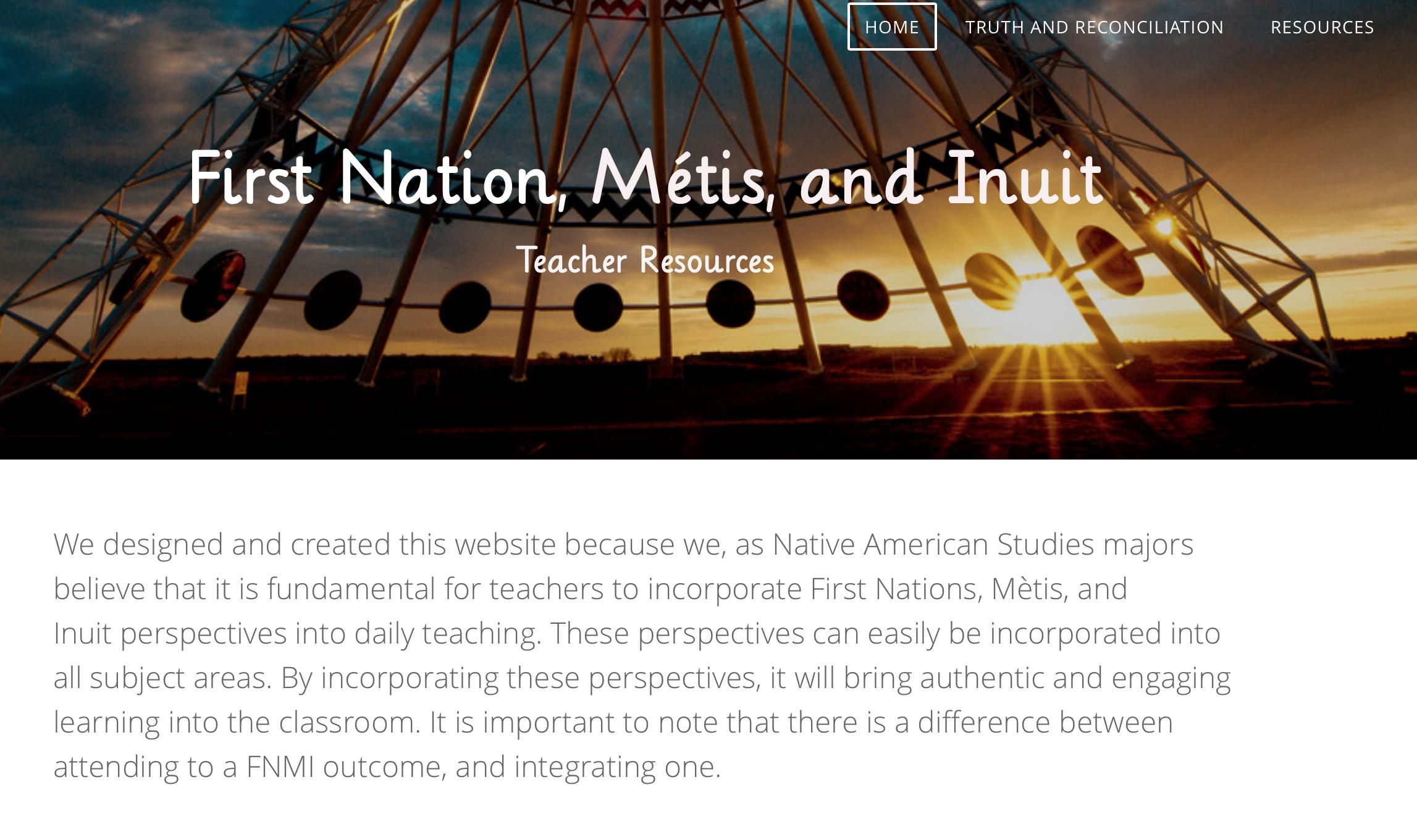FNMI Teacher Resources Resource Preview