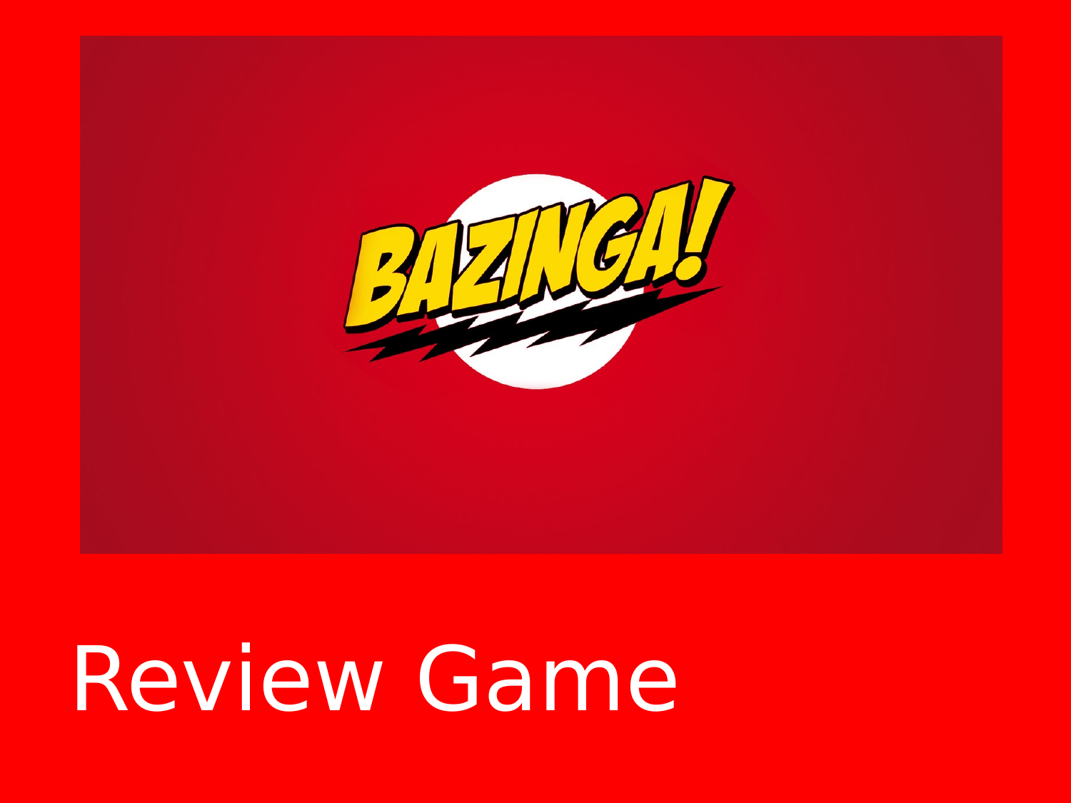 Bazinga Exam Review Resource Preview