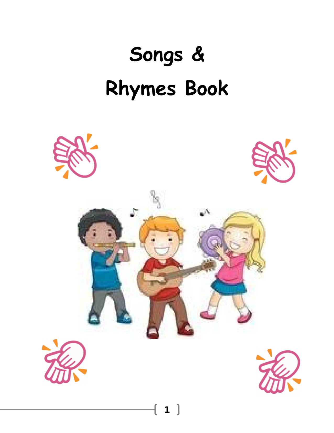 Songs and Rhymes Book Resource Preview