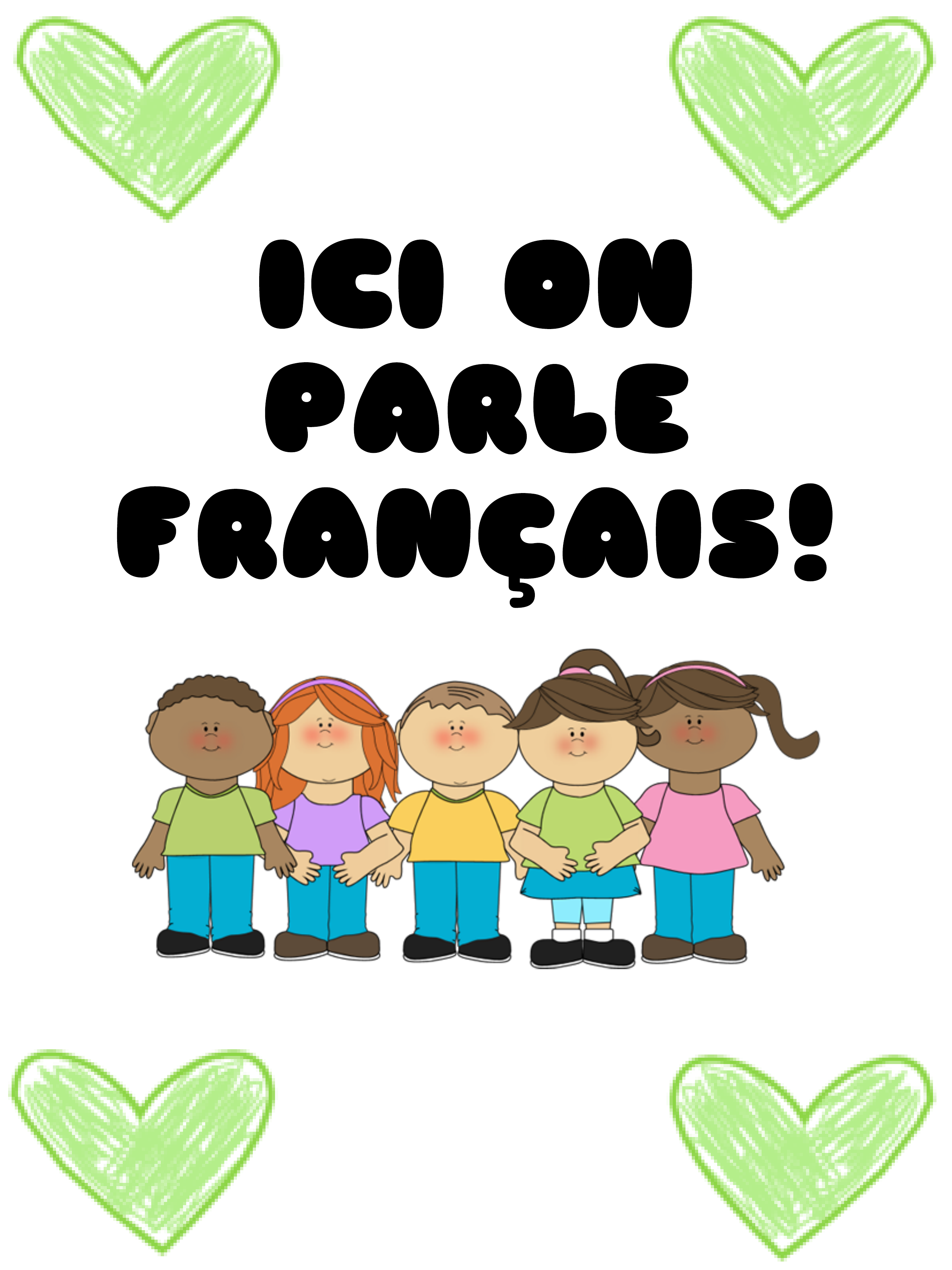 ICI ON PARLE FRANCAIS POSTER Resource Preview