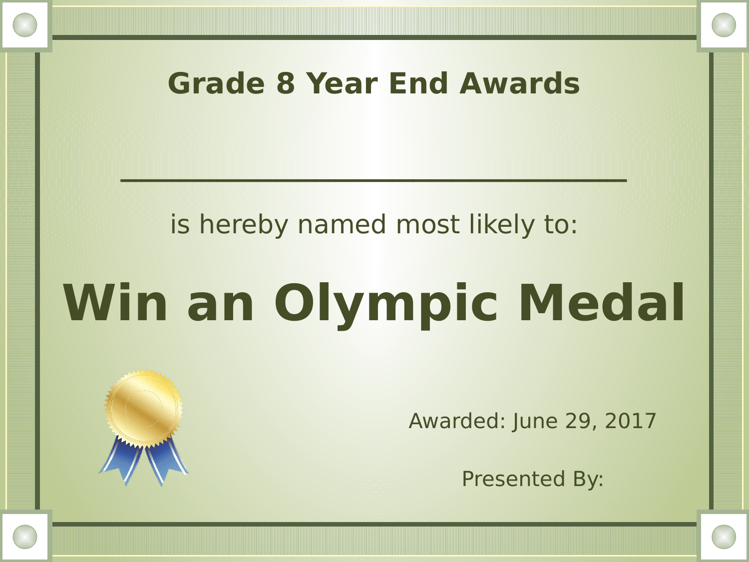 Most Likely To Awards Resource Preview