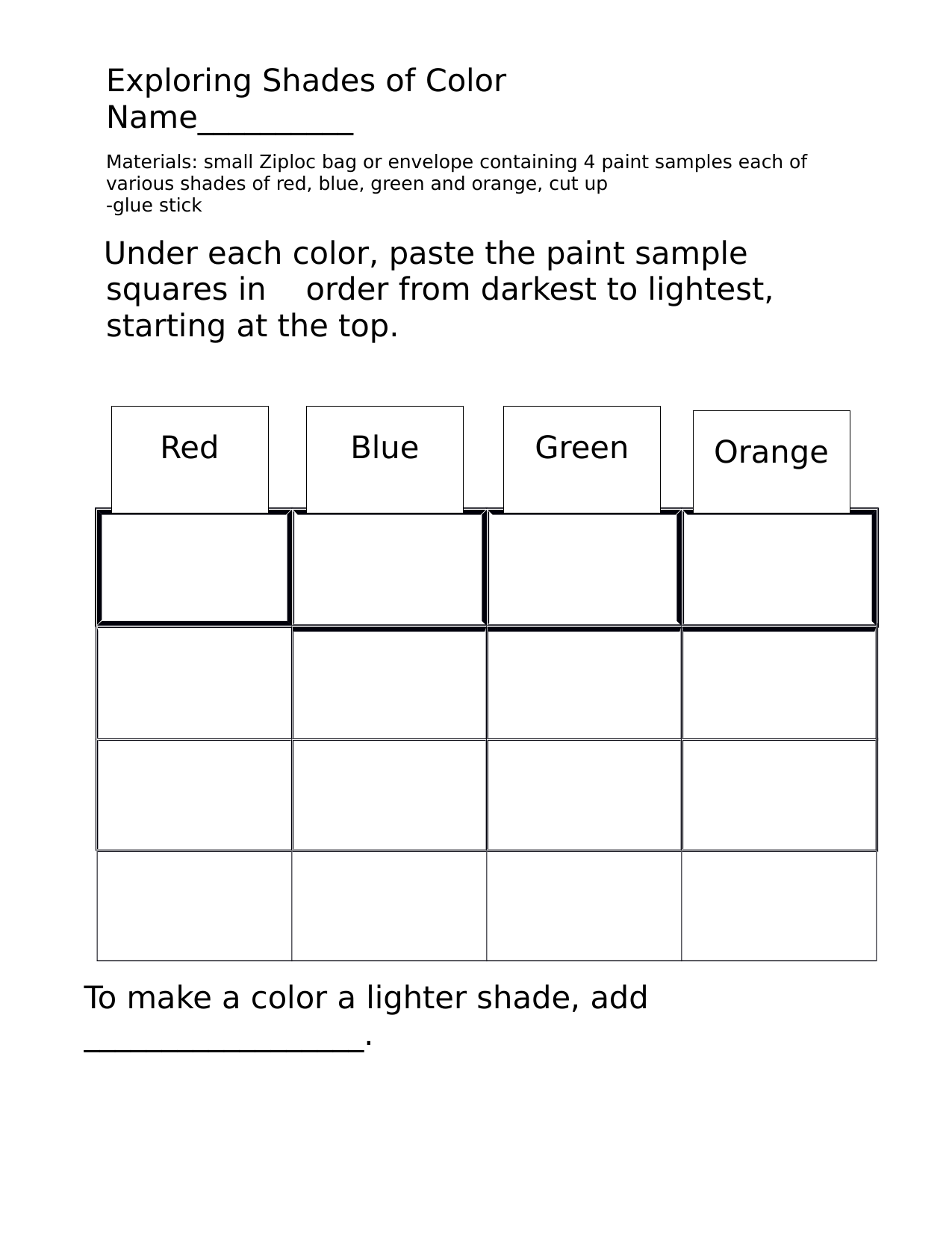 Shades of color Resource Preview