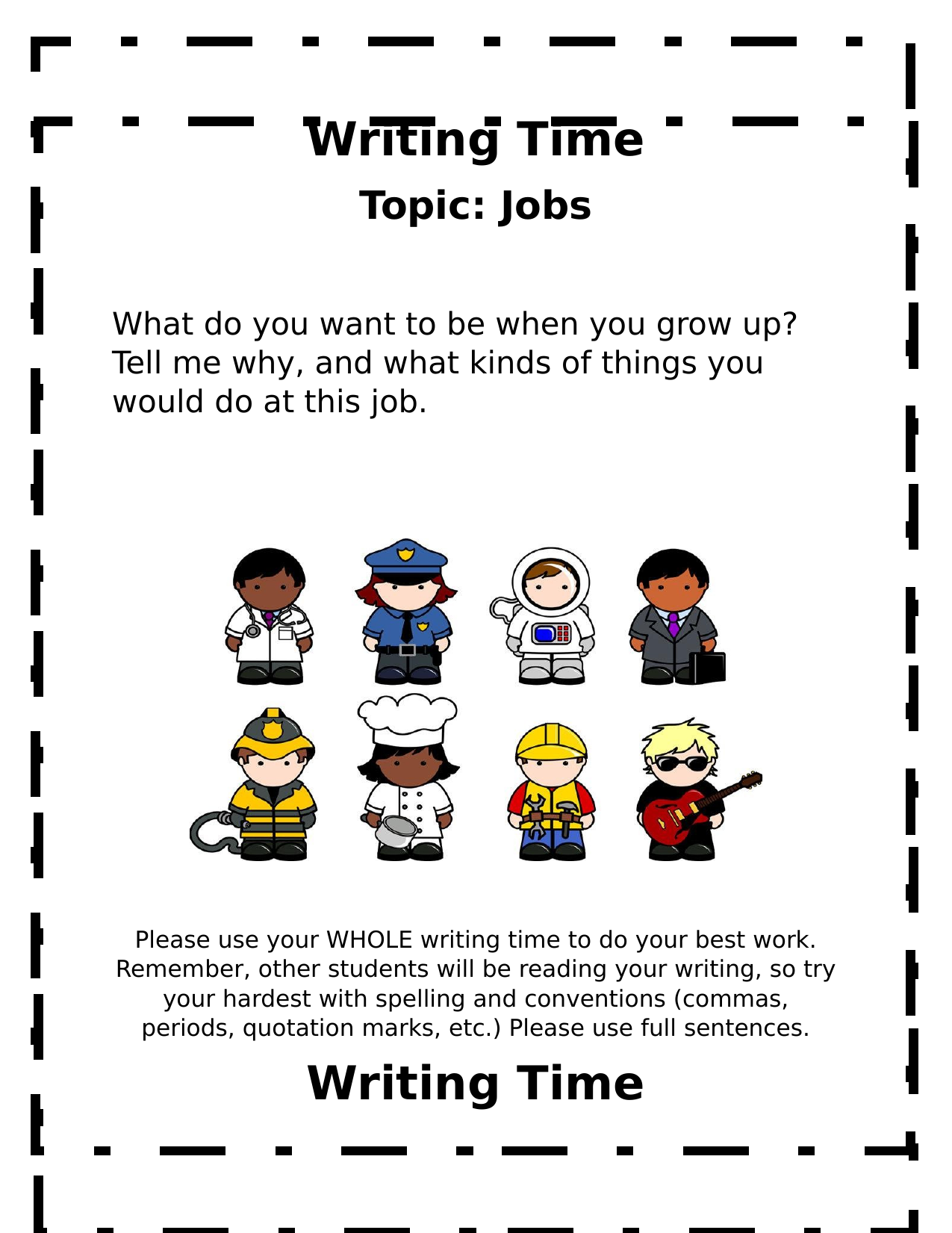 Whole Class Writing Journal Prompts Resource Preview