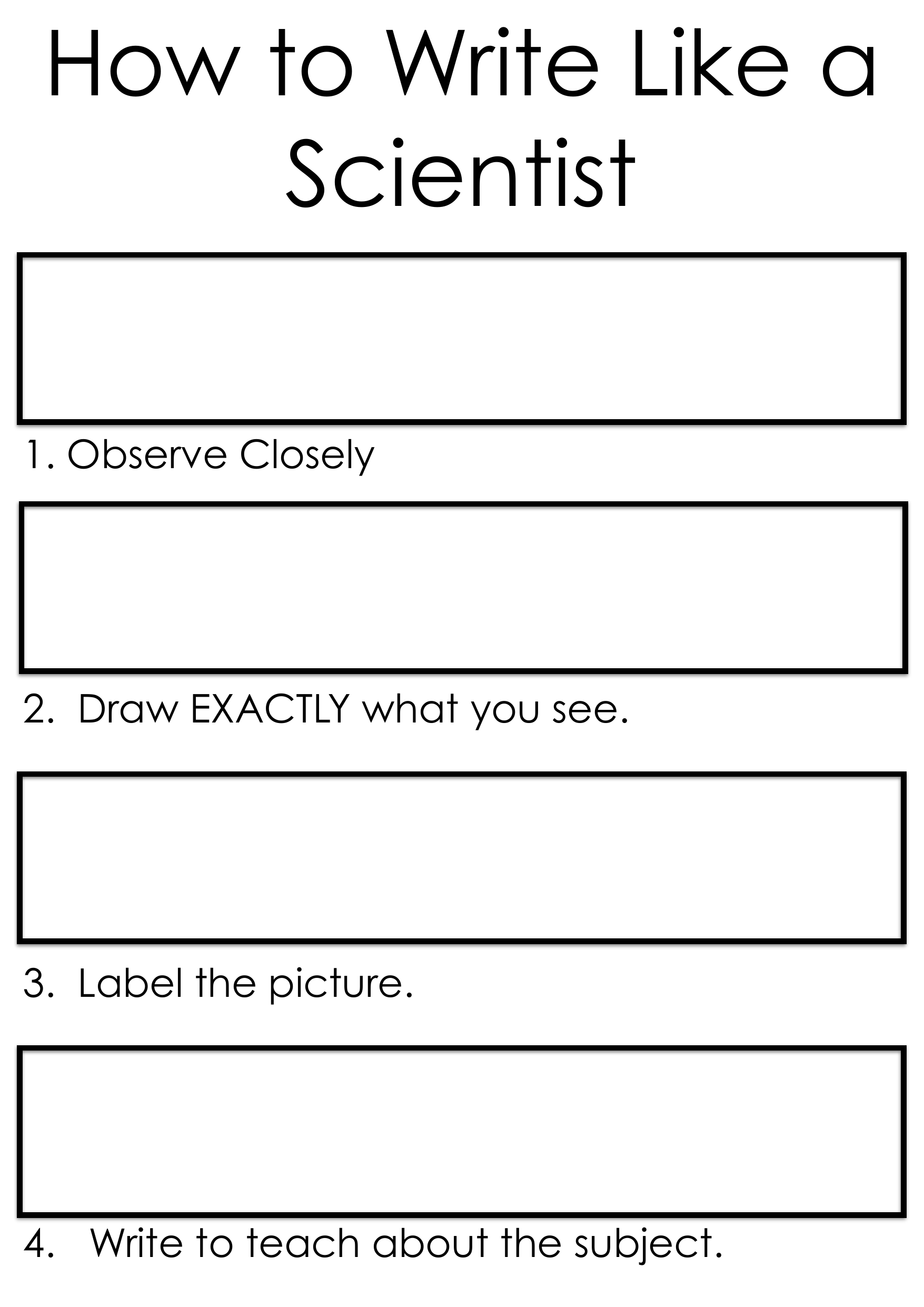 Write like a Scientist Resource Preview
