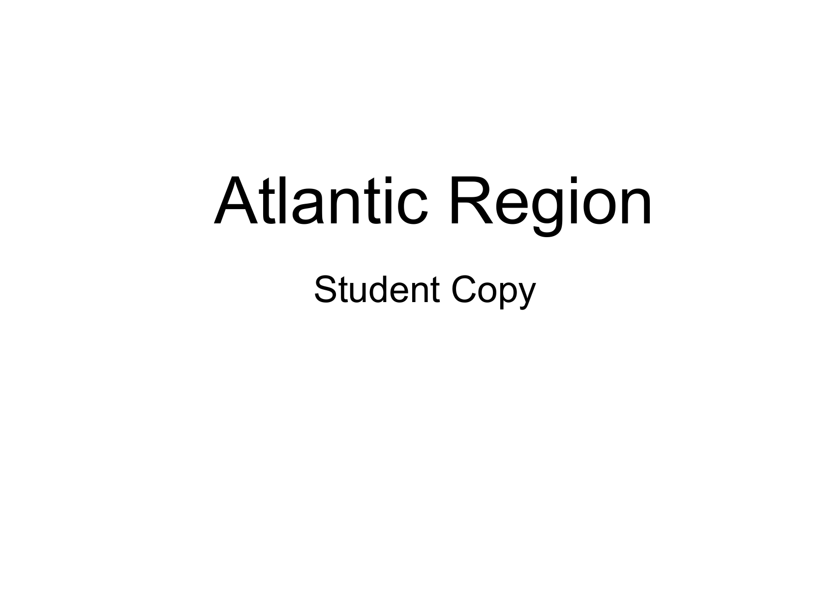 Atlantic Region Student Copy Resource Preview