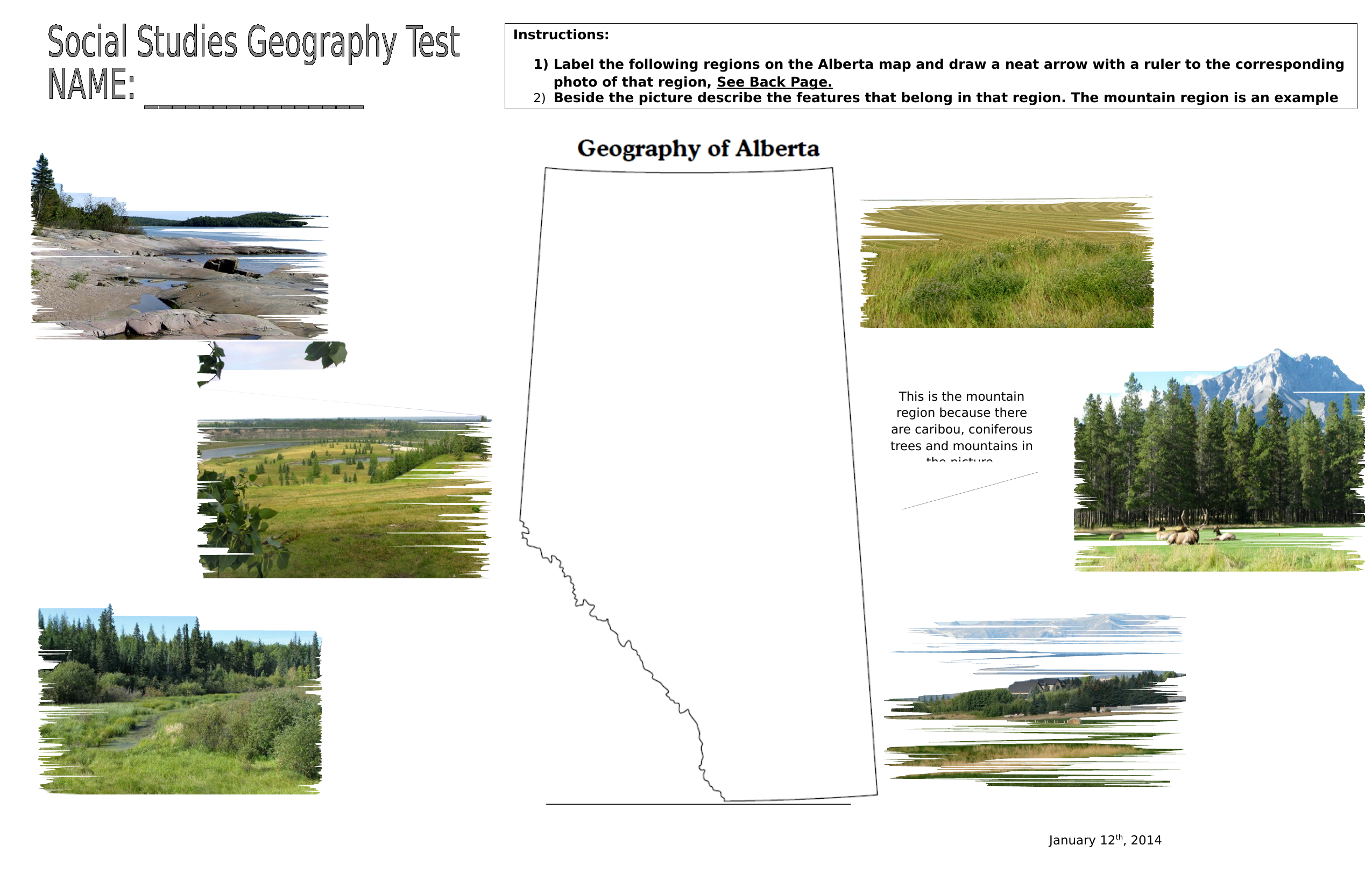 Social Studies Geography Final Assessment Part 1 Resource Preview