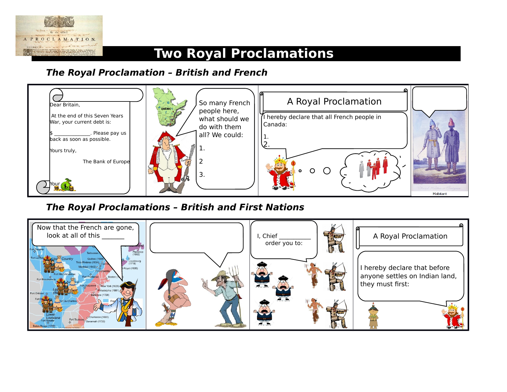Royal Proclamation and American Revolution Comics Resource Preview