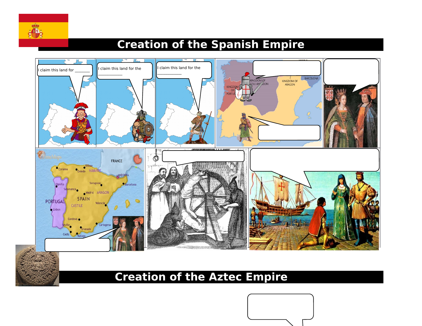 History of the Aztec and Spanish Review Comics Resource Preview