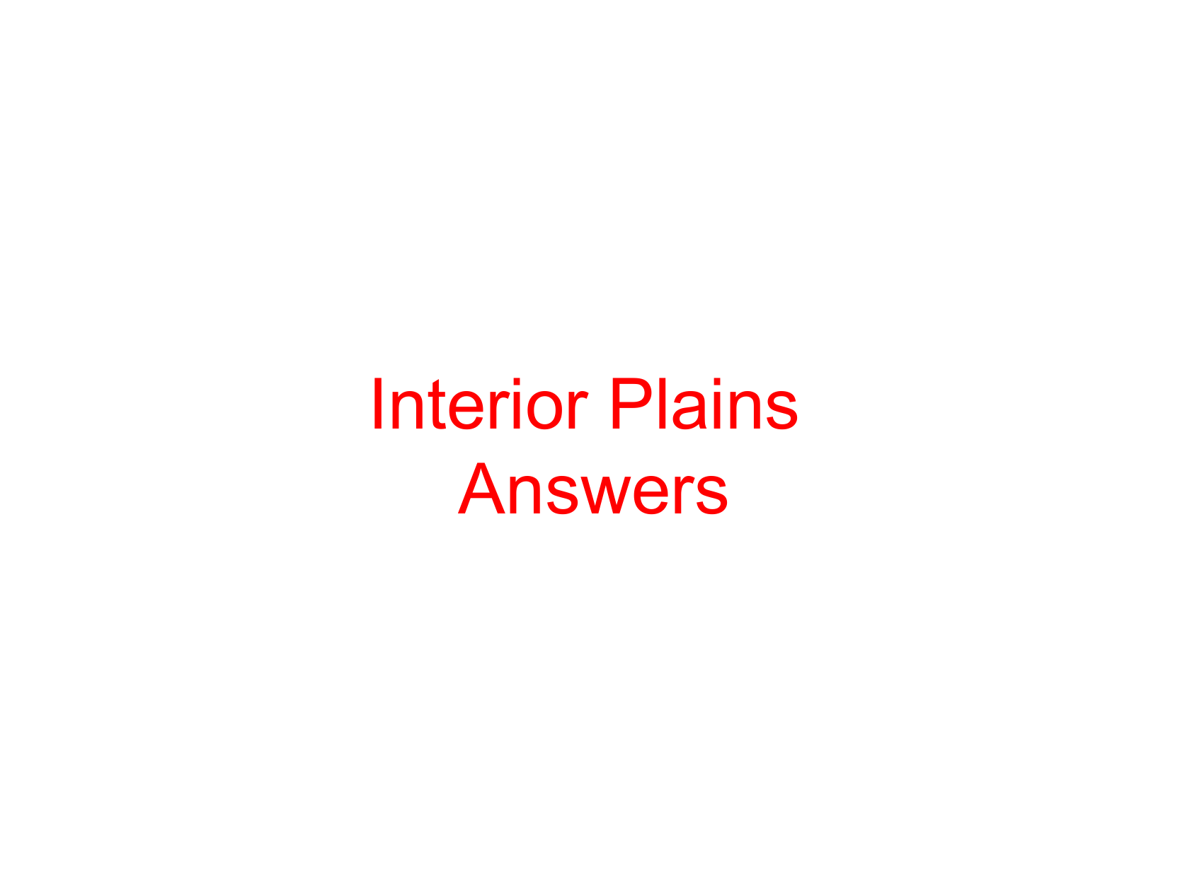 Grade 5 Regions Project Interior Plains Answers Resource Preview