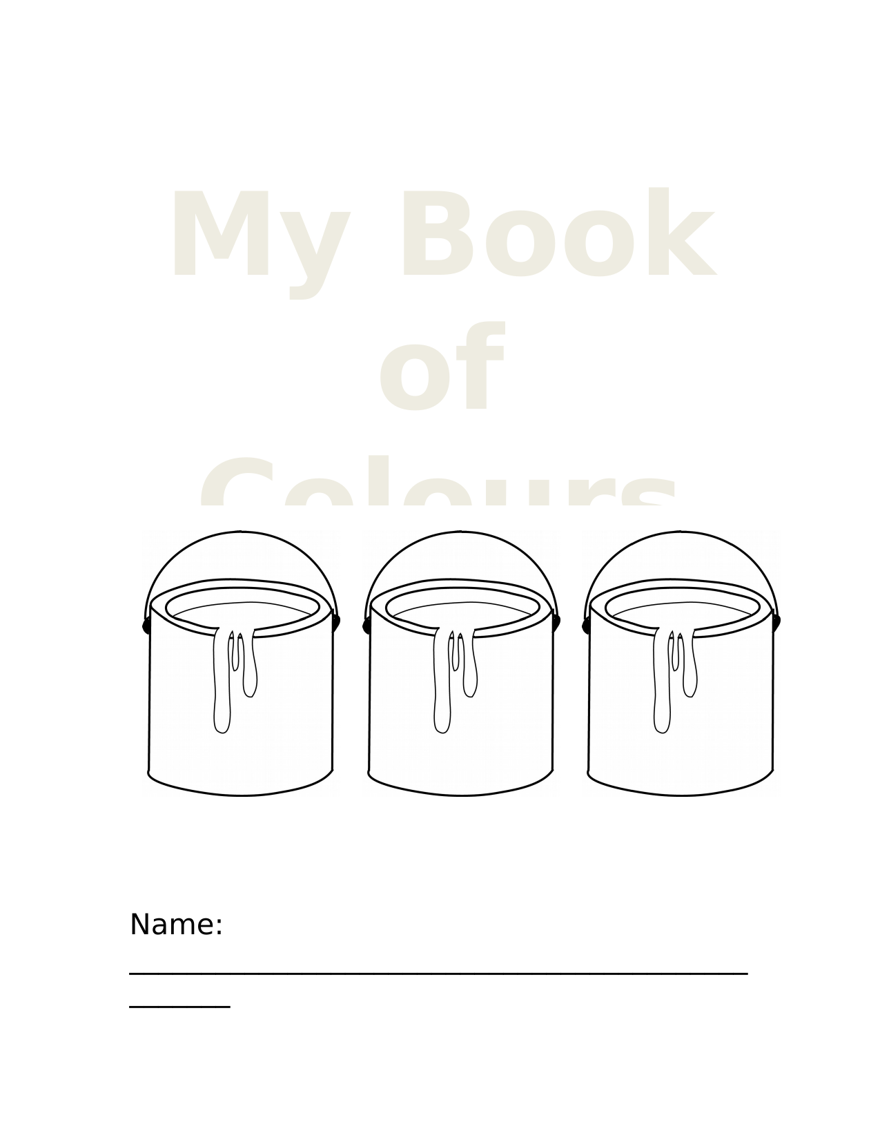My Book of Colours Resource Preview