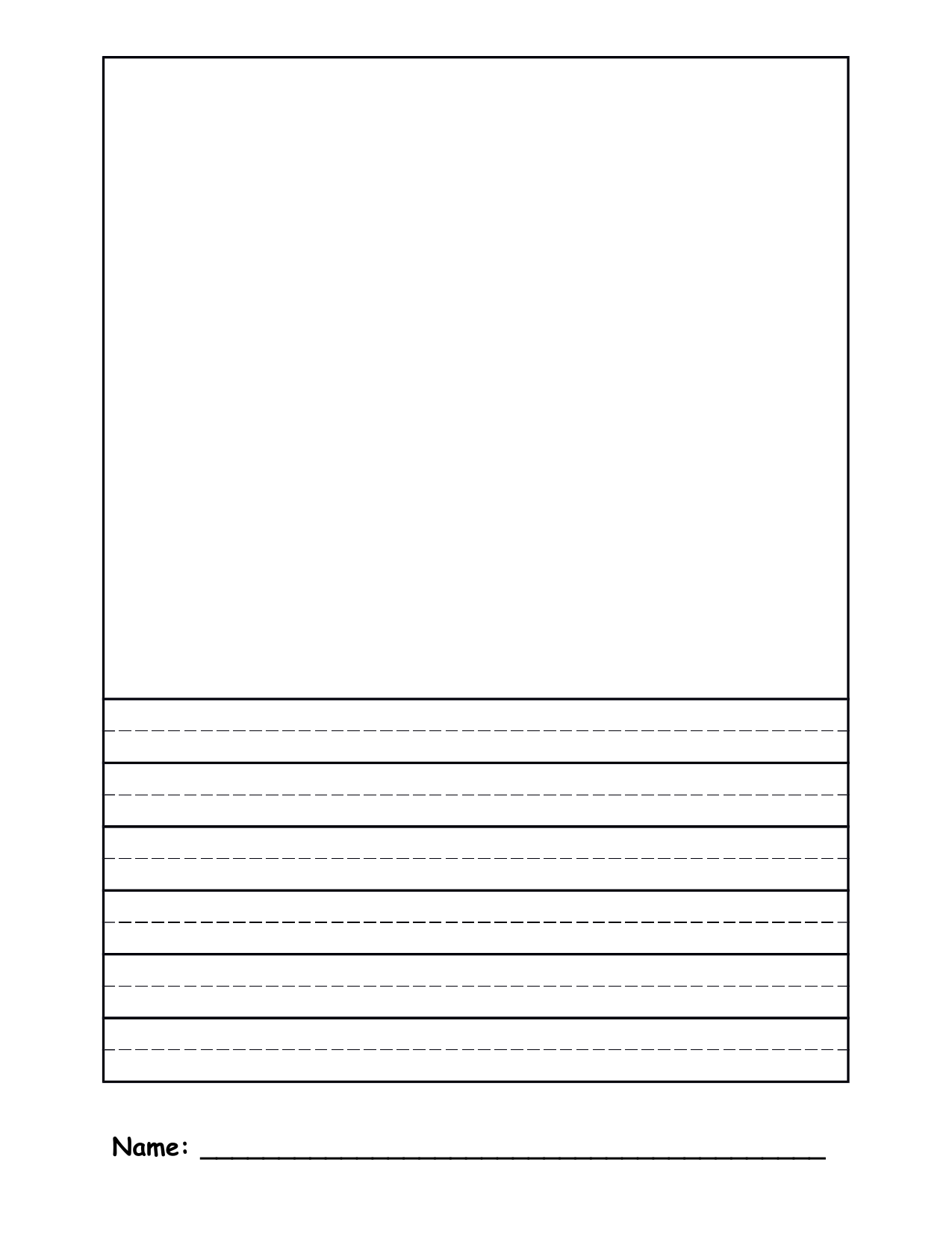 Half Blank and Half Lined Paper Resource Preview