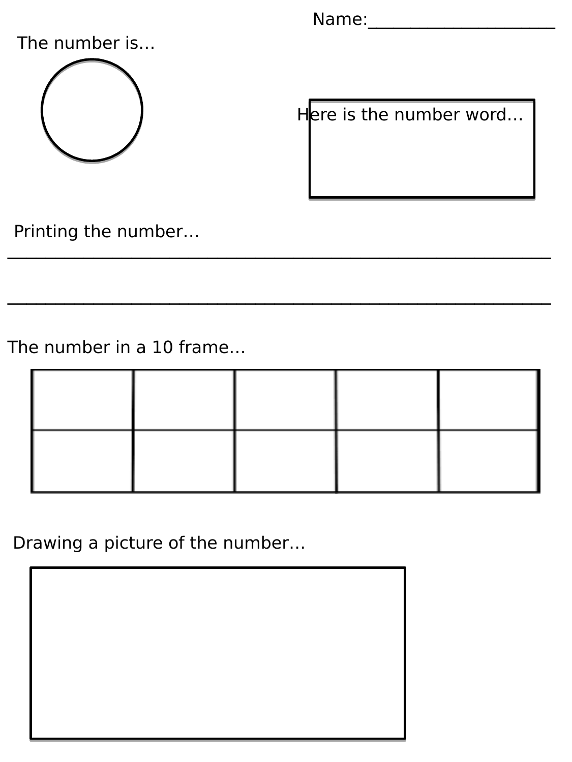 Number of the week worksheet Resource Preview