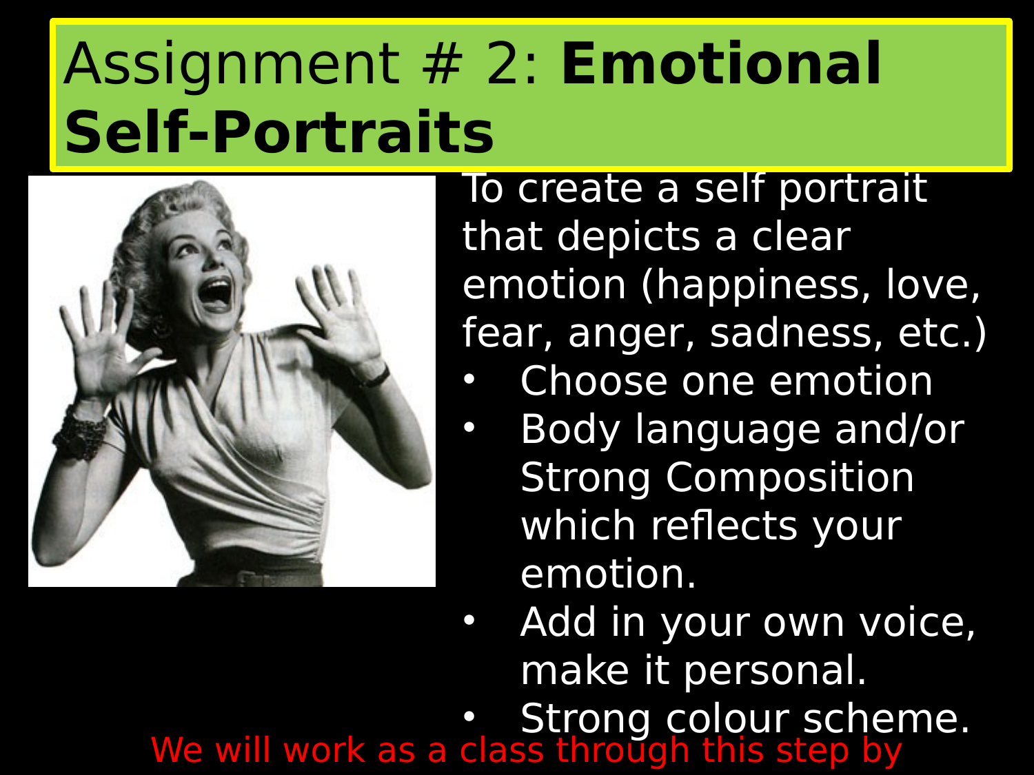 Emotional Self Portrait Powerpoint lesson Resource Preview