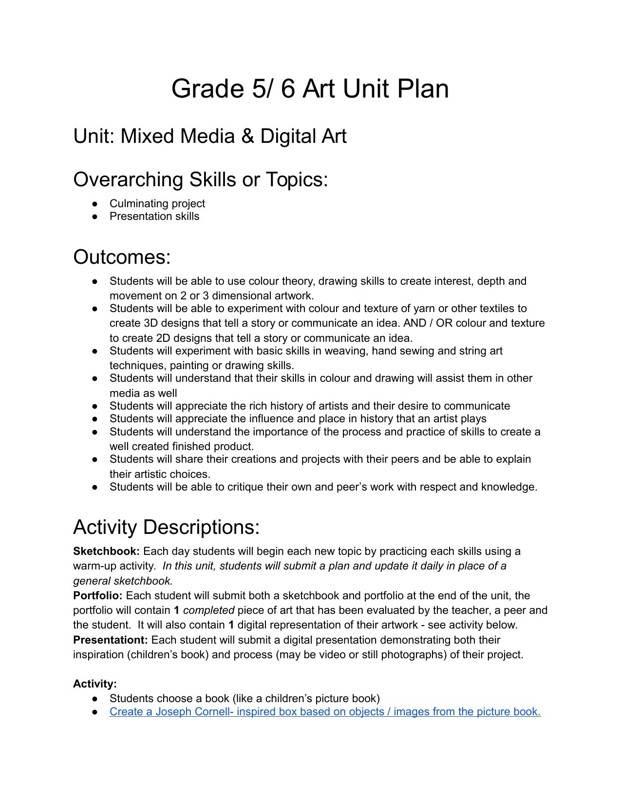 Mixed Media and Digital Art Resource Preview