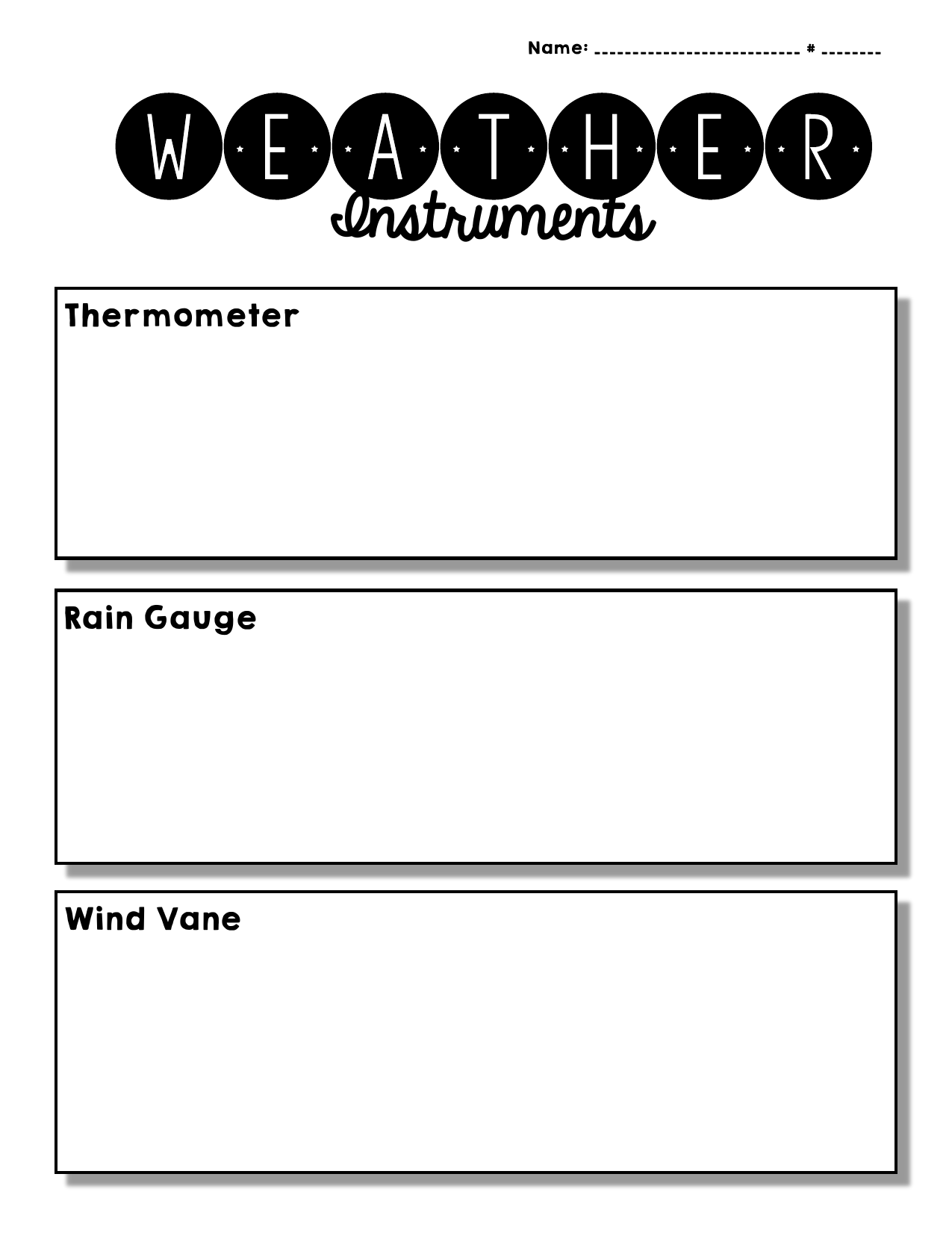 Weather Instruments Definitions and Drawings Resource Preview