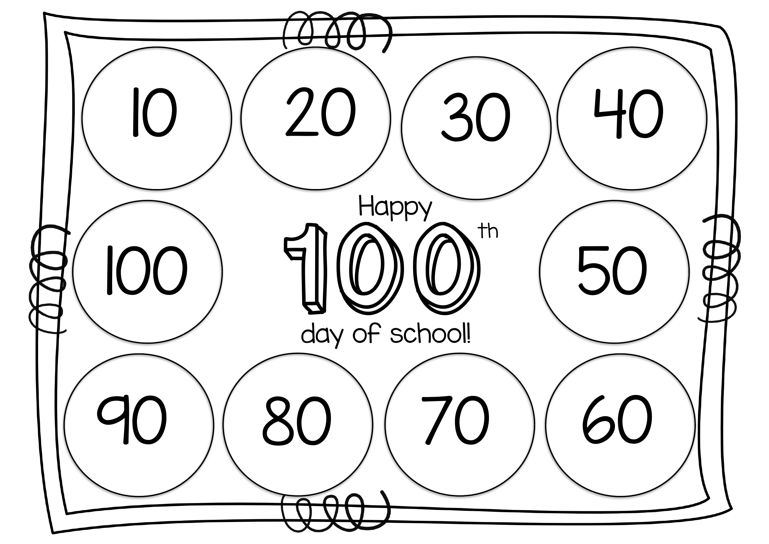100th Day Grouping and Sorting Mat Resource Preview