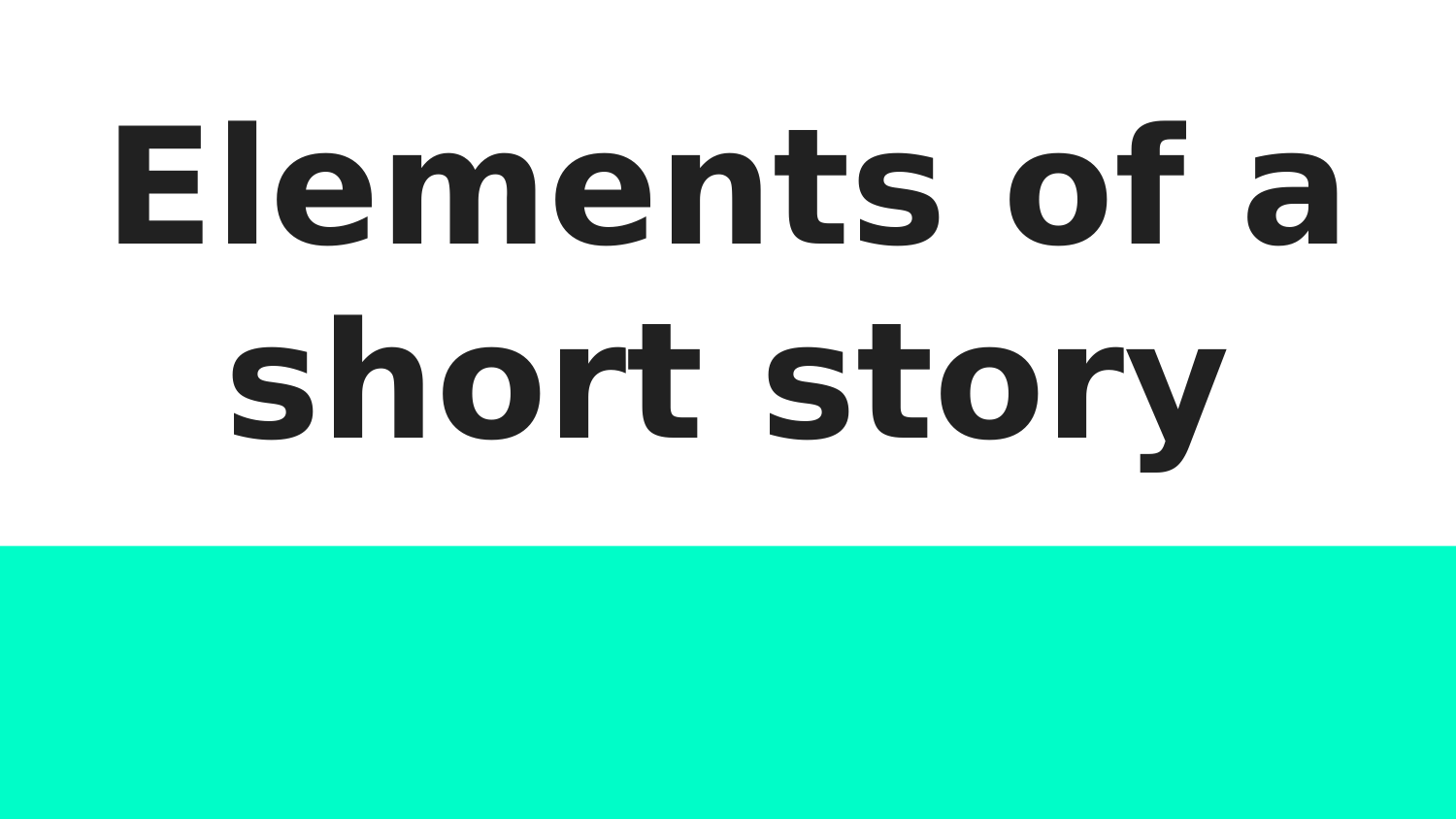 Elements of a Short Story  Resource Preview