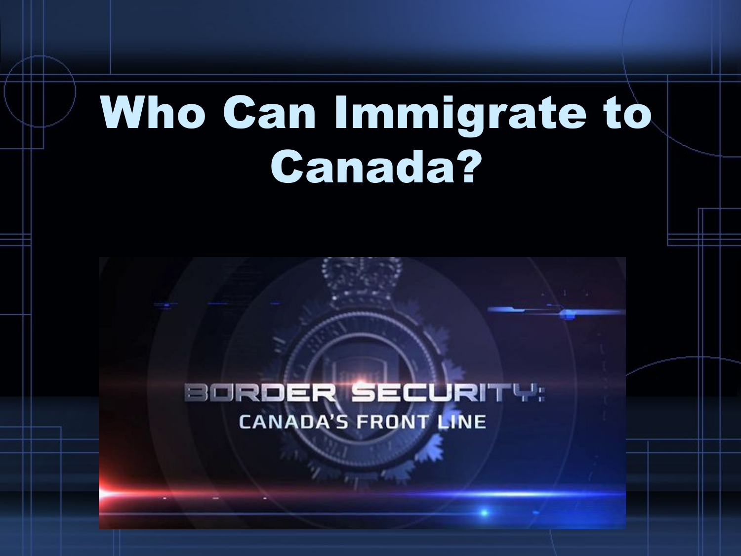 Who Do We Let Into Canada  Points System Lesson Resource Preview
