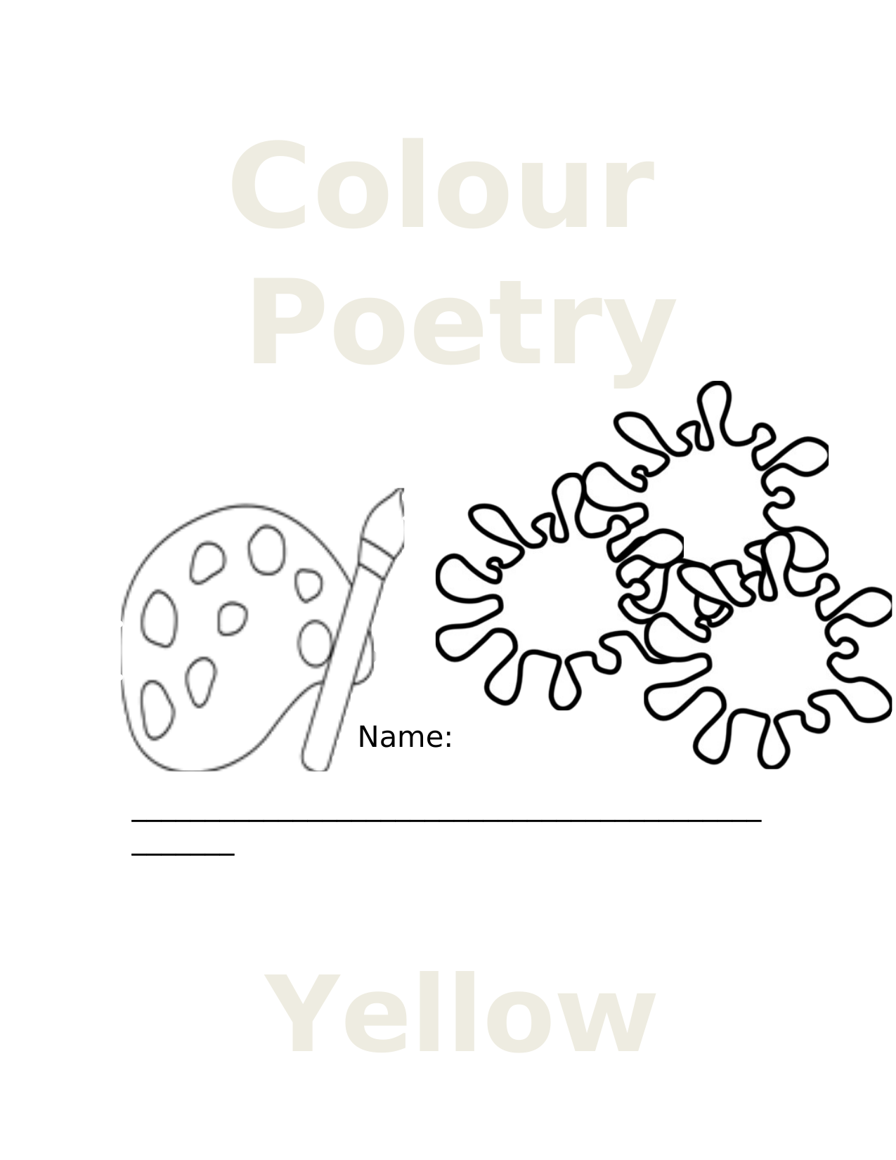 Colour Poetry Resource Preview