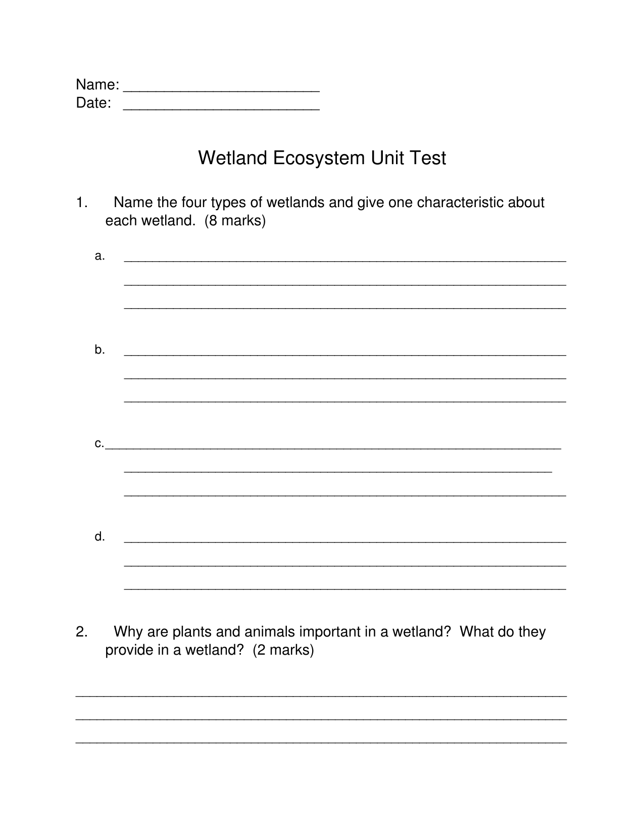 Wetlands Unit Test Resource Preview