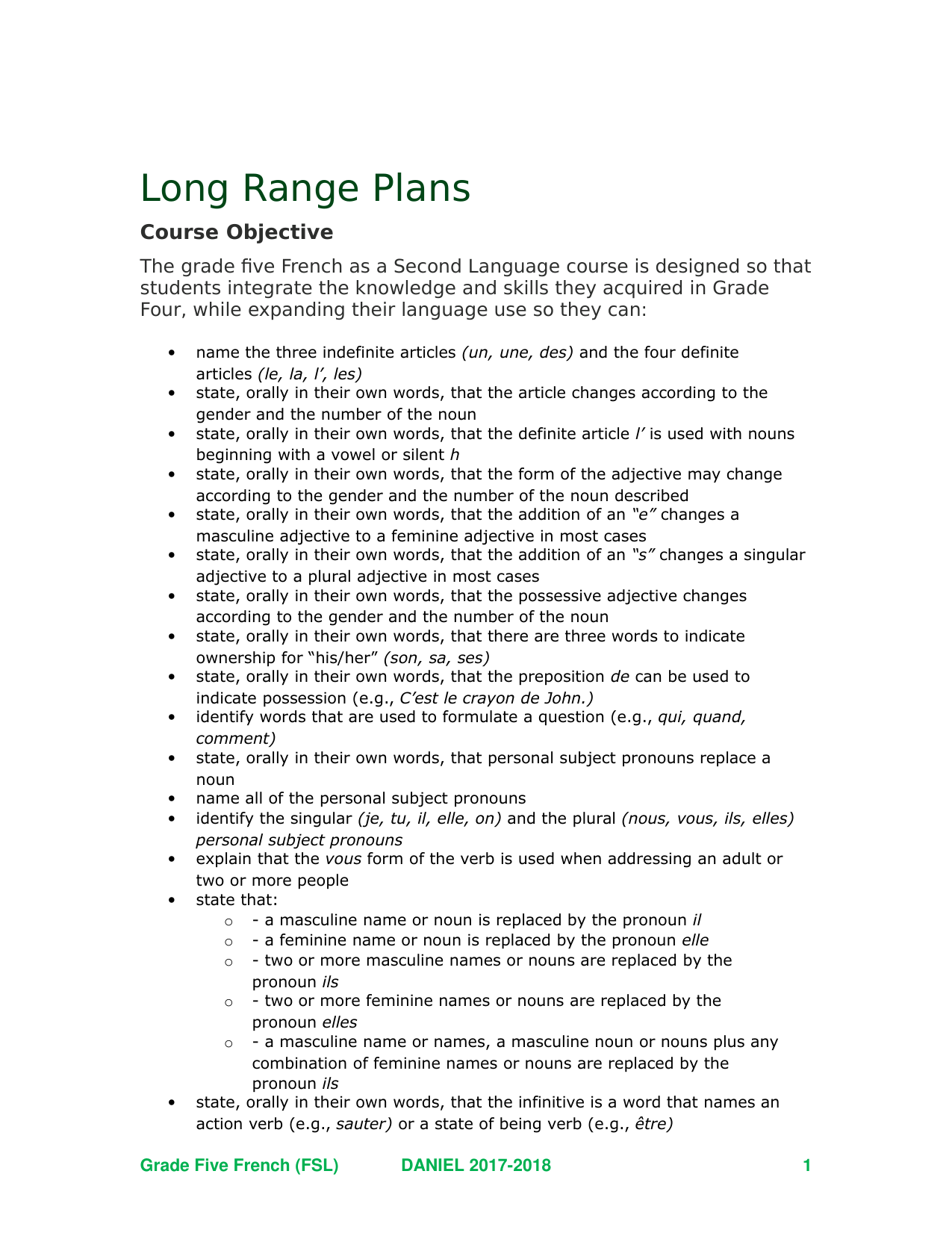 FSL 5 Long Range Plans Resource Preview
