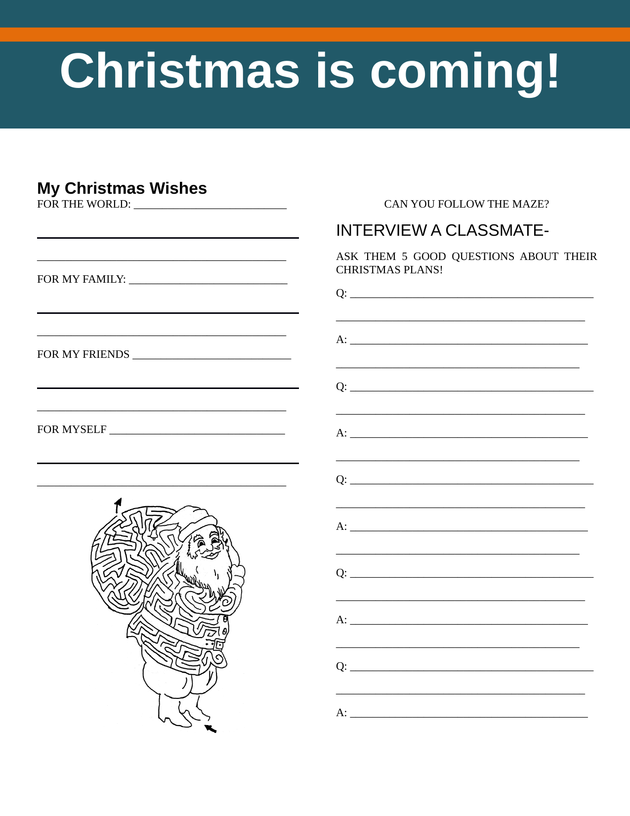 Christmas activity book Resource Preview