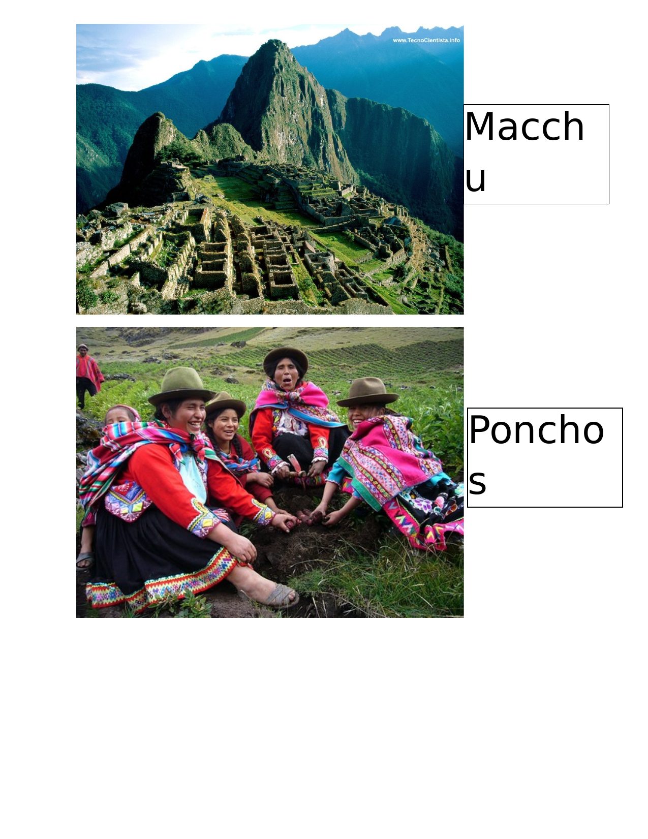 Peru Bulletin Board Resource Preview