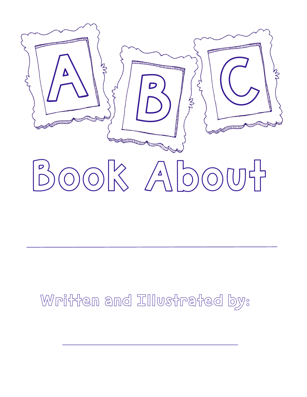 ABC Book Title Page Resource Preview