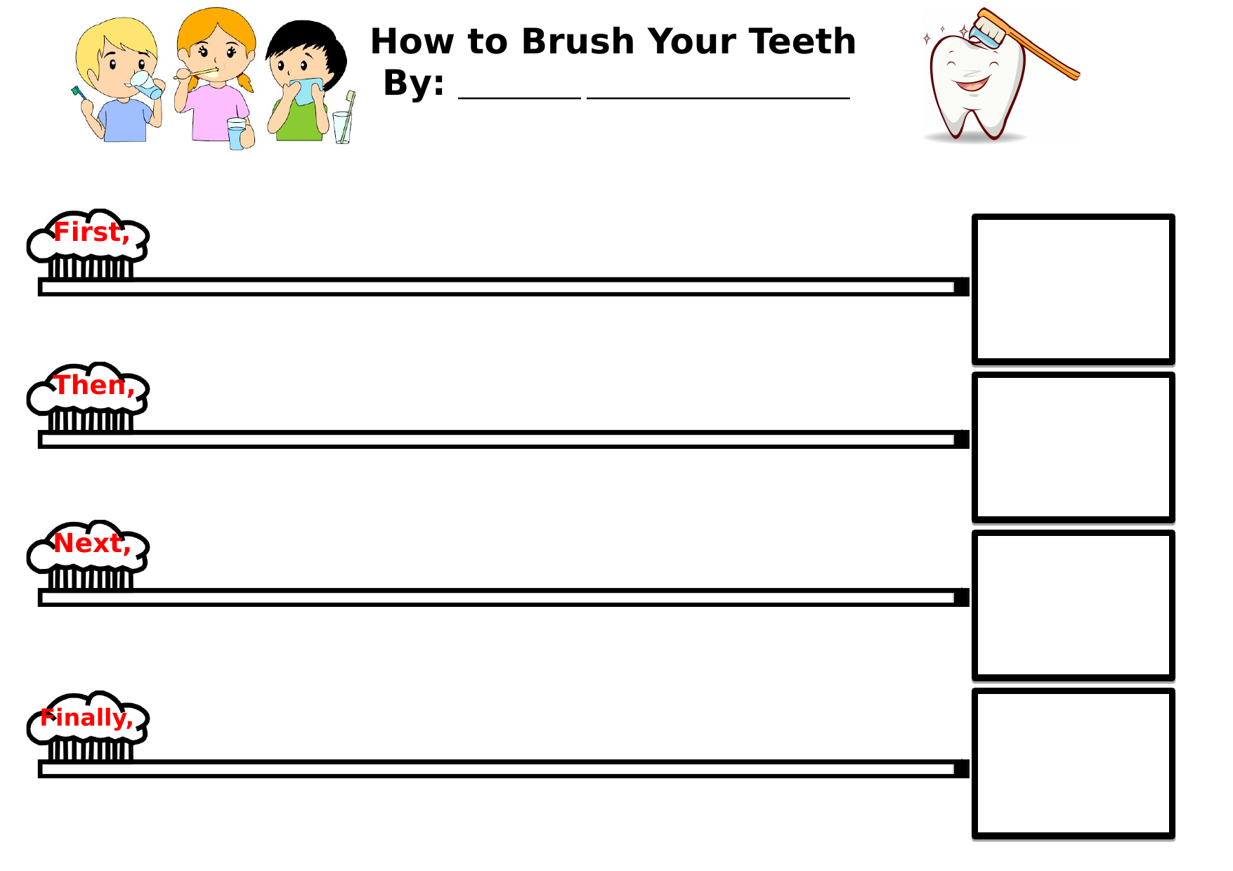 Sequence of Brushing Teeth Resource Preview