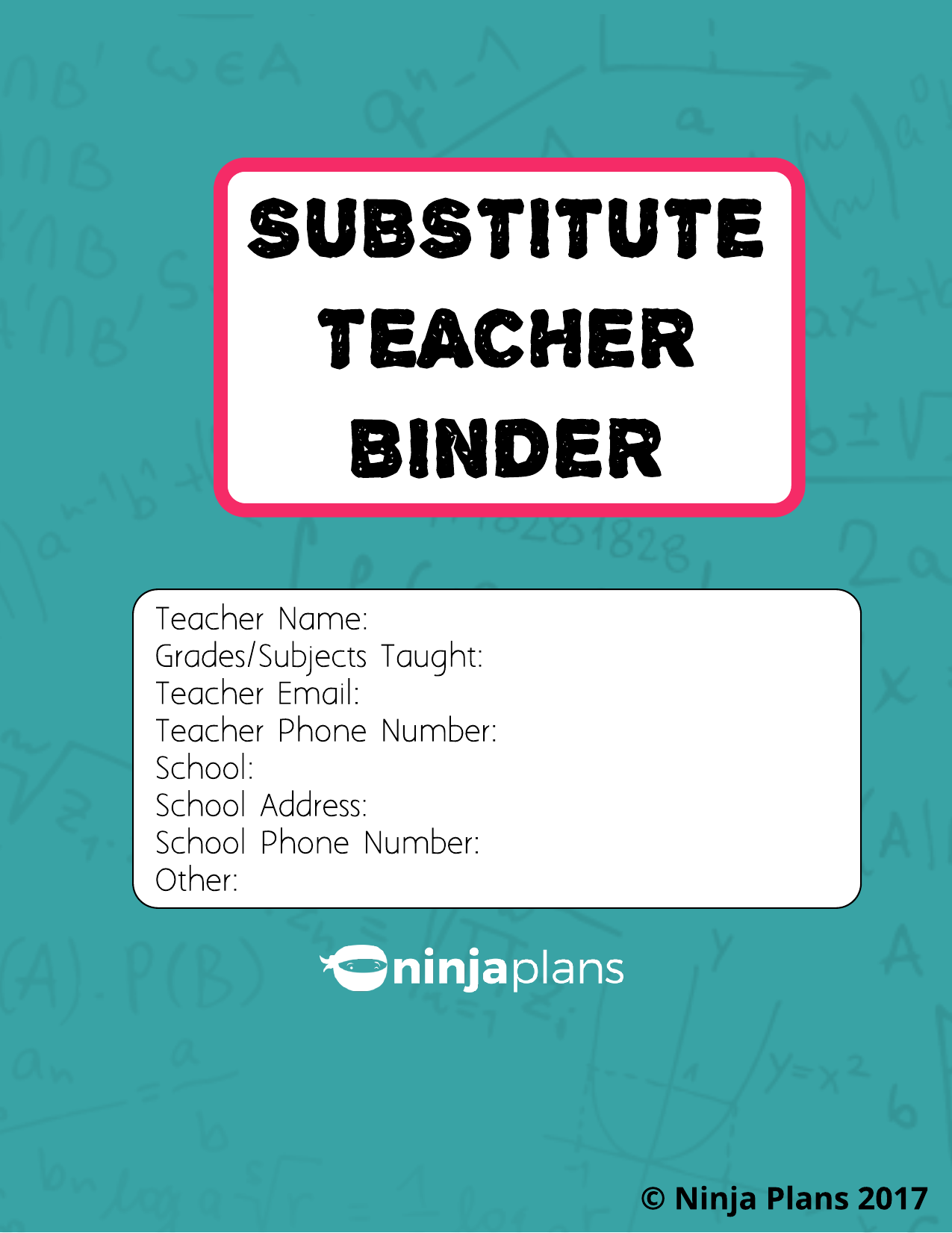 Substitute Teacher Binder Resource Preview