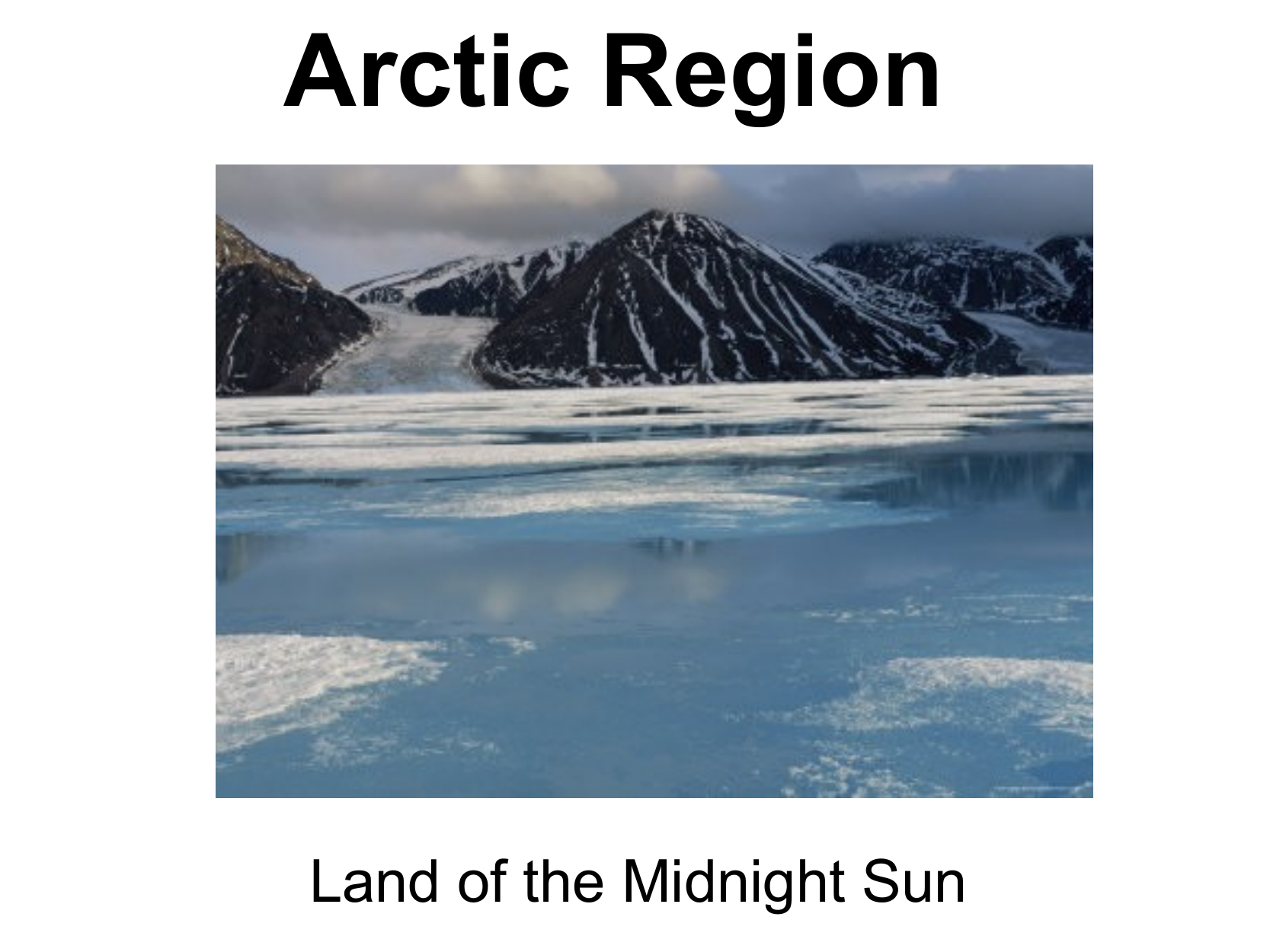 Region Work for the arctic Resource Preview